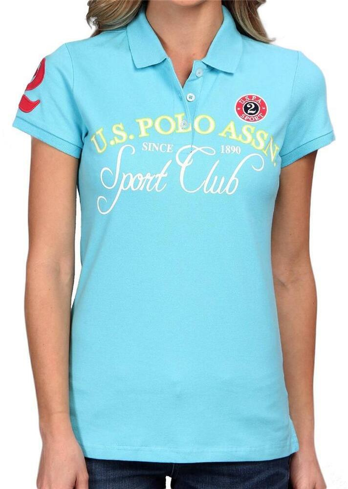 New us polo assn women 39 s premium athletic classic cotton for Us polo shirts offers