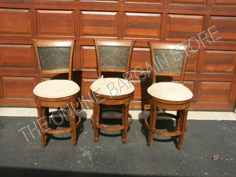 3 Frontgate Santa Fe Barstool Bar Counter Kitchen Metal