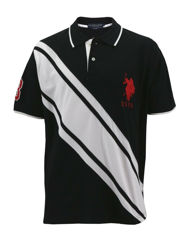 New us polo assn men 39 s premium athletic classic cotton for Men s athletic polo shirts