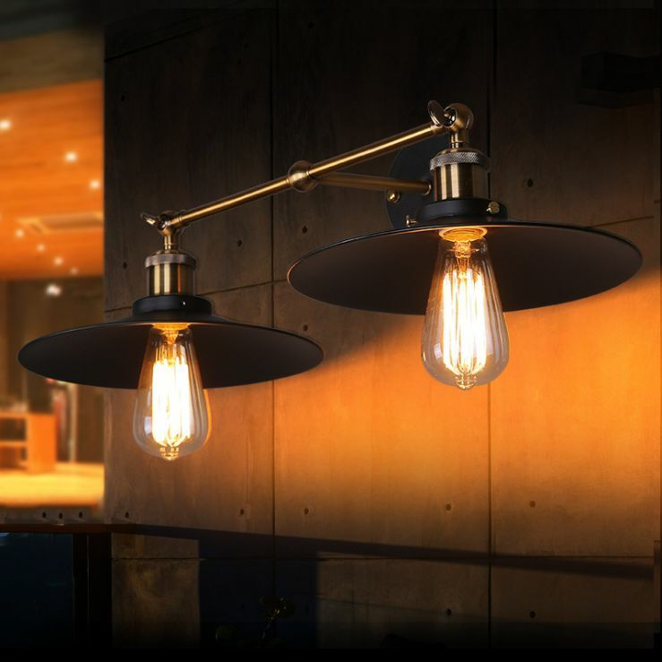 Metal Industrial Wall Lights : Vintage Industrial Metal Ceiling Light Edison Rustic Wall light/Pendant Lamp/NEW eBay