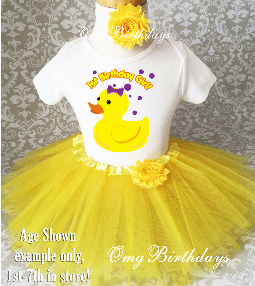Rubber Ducky Duck Yellow 1st First Birthday Tutu Outfit ...