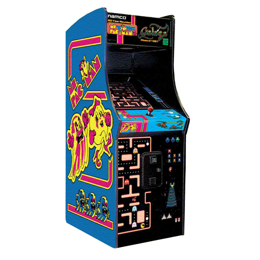 Ms Pacman Galaga Upright Arcade Machine Retro Home ...