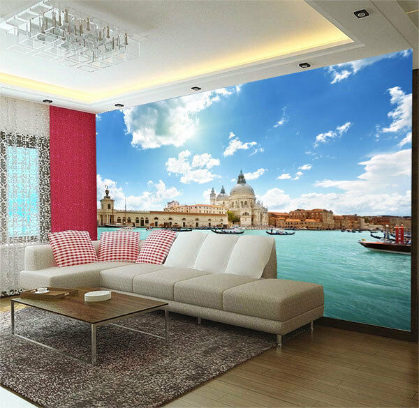 Grand palace venice italy 3d full wall mural print for Home wallpaper ebay