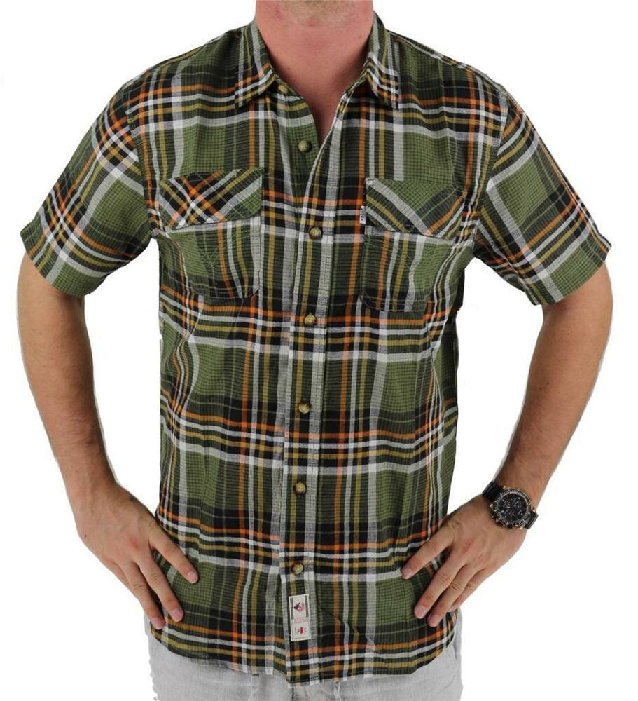 New nwt levi 39 s men 39 s classic plaid short sleeve button up Short sleeve plaid shirts