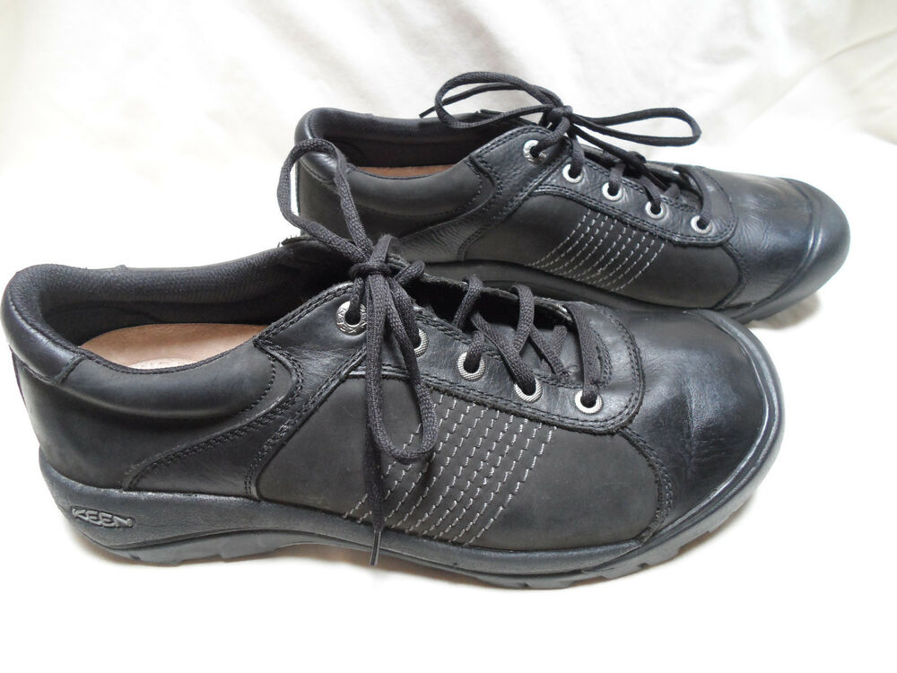keen mens athletic sneakers shoes black size 13 leather