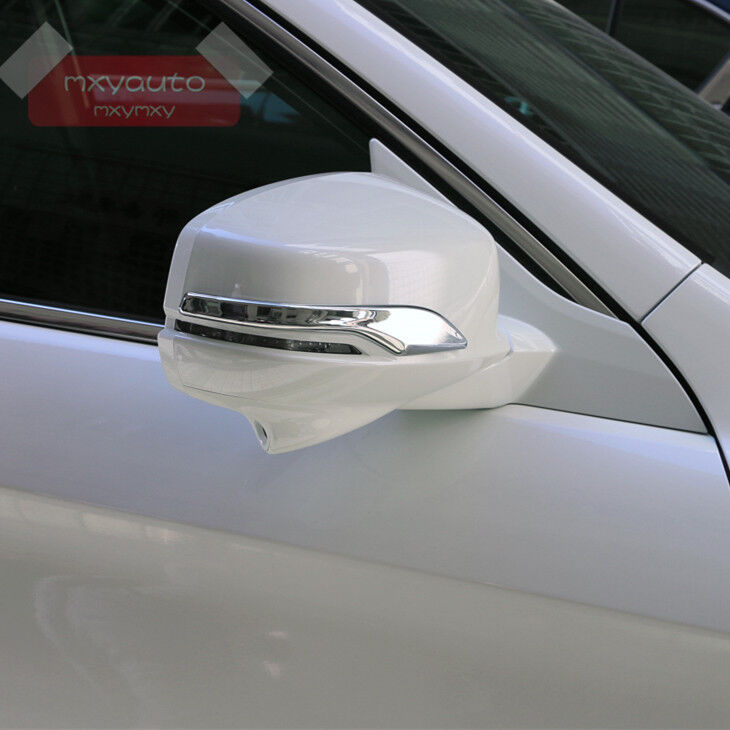 Door Side Back Mirror Chrome Trim For Honda Accord MK9 ...