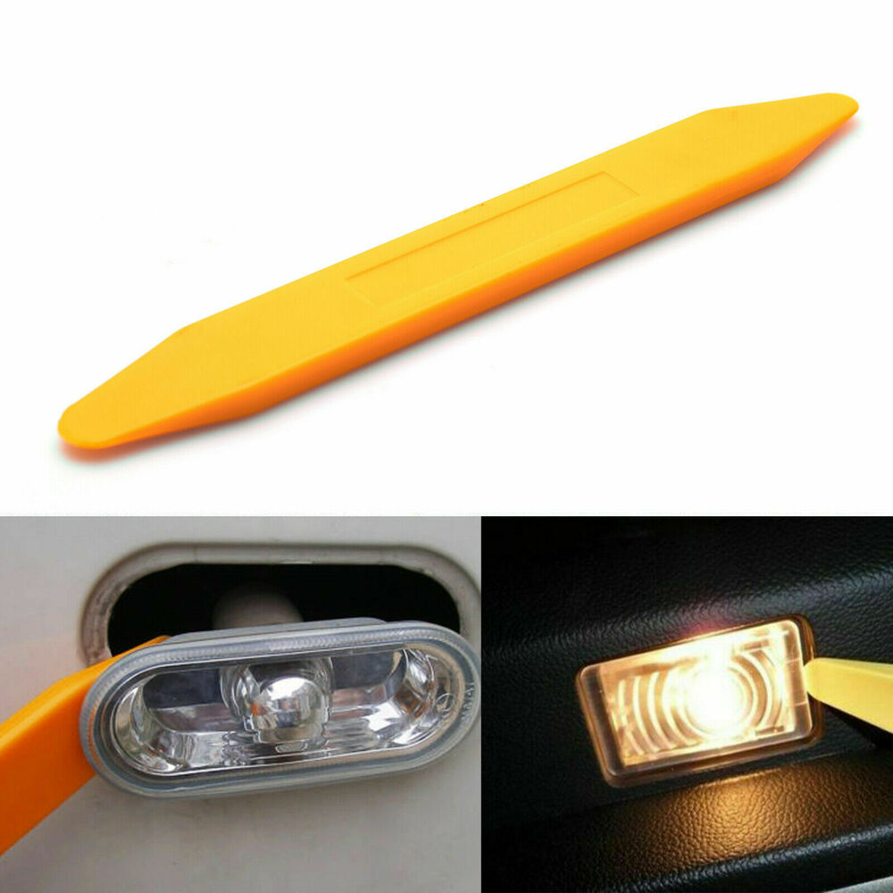 car use exact fit open pry tool license plate door interior light cover removal ebay. Black Bedroom Furniture Sets. Home Design Ideas
