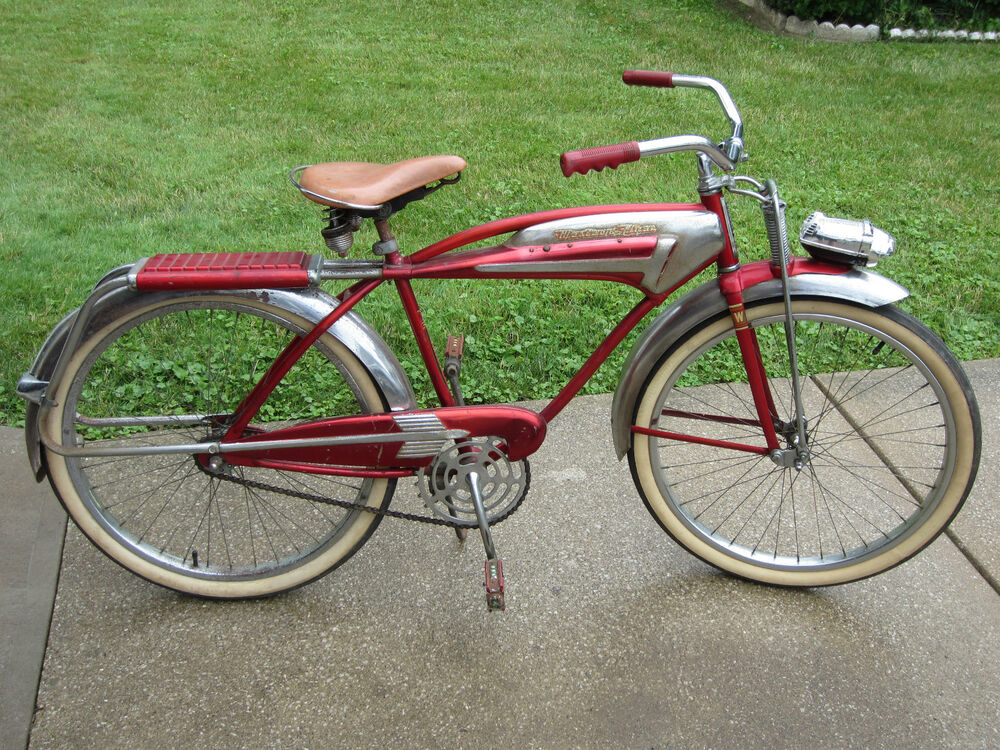 rare western flyer x 53 super springer tank bicycle   all