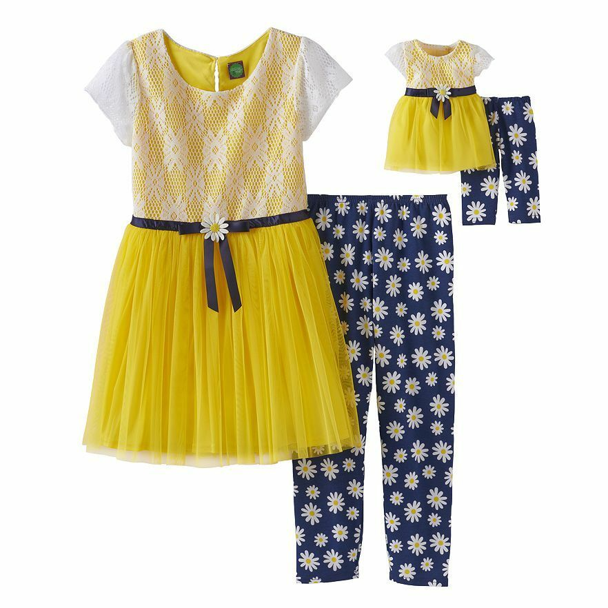 Dollie Me Girl 2t 14 And Doll Matching Lace Dress Outfit