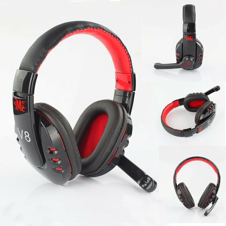 new stereo bluetooth wireless headphones headset with mic for samsung htc pc ebay. Black Bedroom Furniture Sets. Home Design Ideas