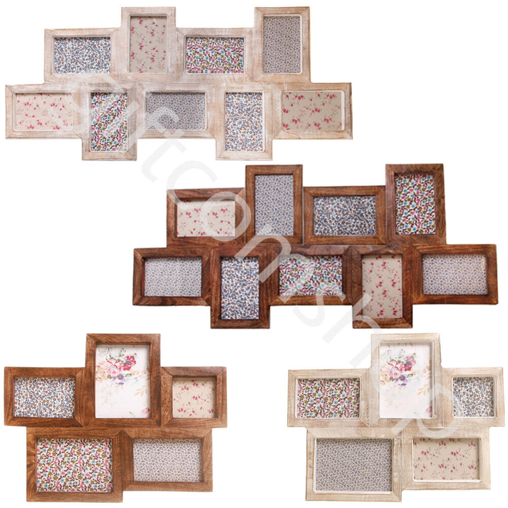 Vintage Home Towels: New Multi Photo Collage Wall Hanging Wood Picture Frames