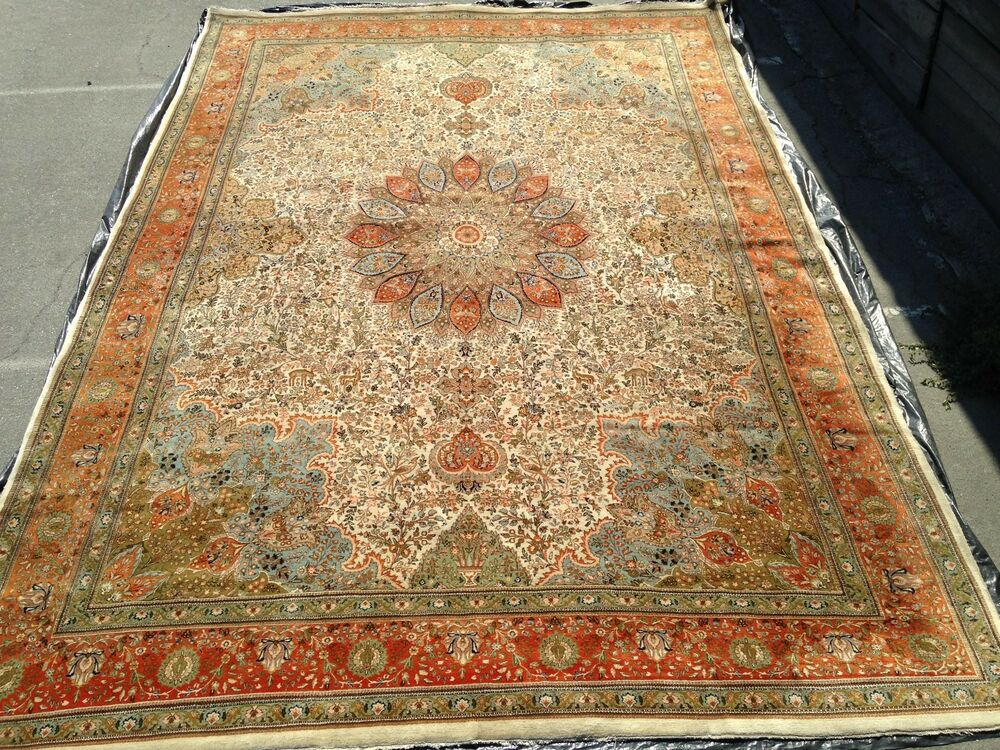 12x18 Antique Palace Size Persian Tabriz Rug Carpet Ebay