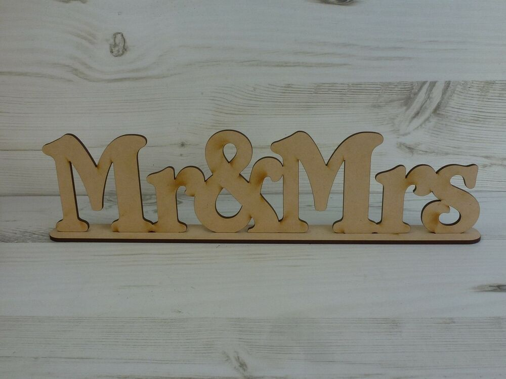 Word plaque wedding mr mrs free standing sayings sign for Furniture 5 letters word whizzle