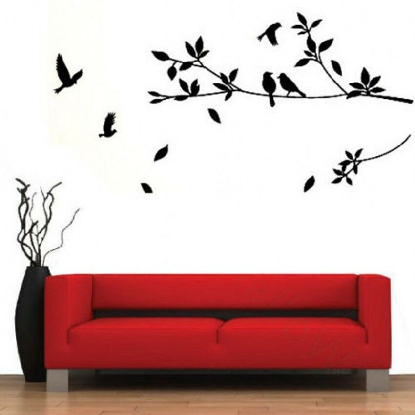 diy decor art bird tree removable vinyl wall decal stickers home room decoration ebay. Black Bedroom Furniture Sets. Home Design Ideas