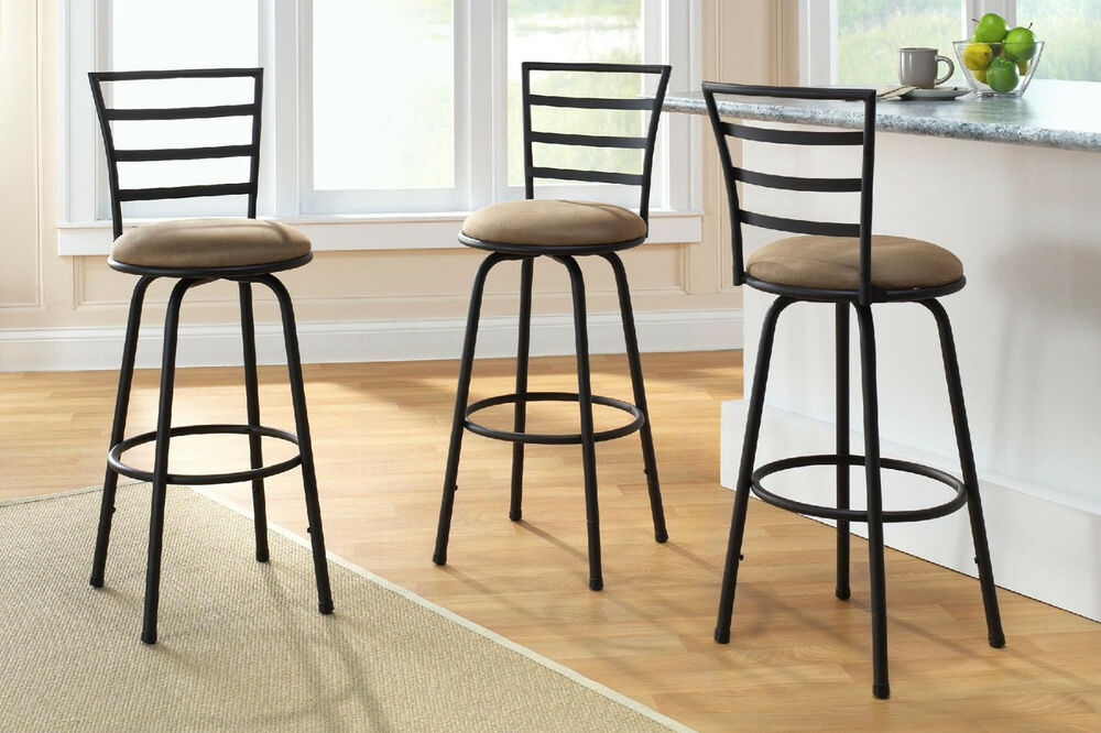 Set Of 3 Swivel Bar Stools Ebay Autos Post