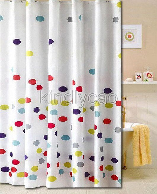 Multi Colored Circles Geometric Design Bathroom Fabric Shower Curtain Ks854 Ebay
