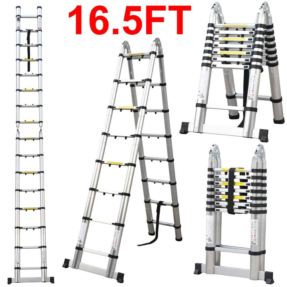 Aluminum Telescopic Ladder : Aluminum extension ladders ebay autos post