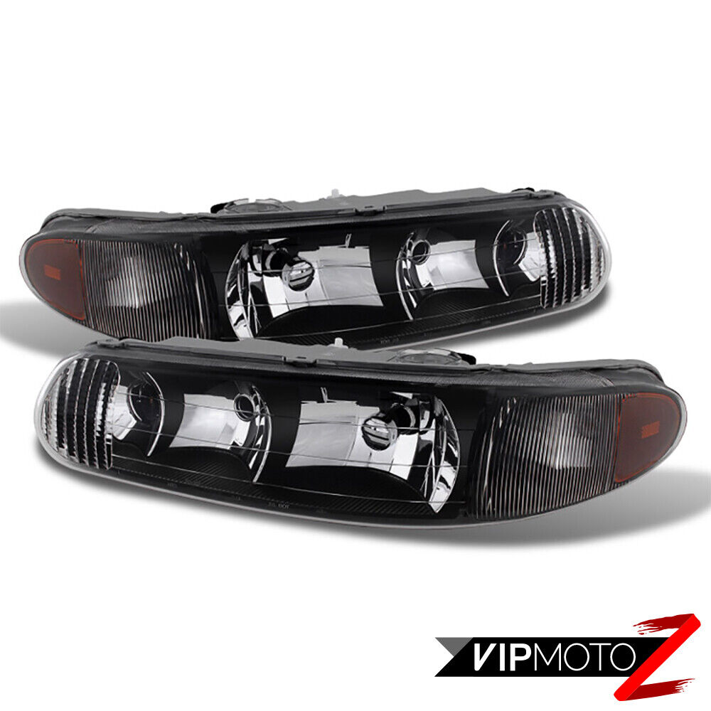 1997 2005 Buick Regal Ls Gs Century Black Left Right Headlight Assembly Hi Lo Ebay