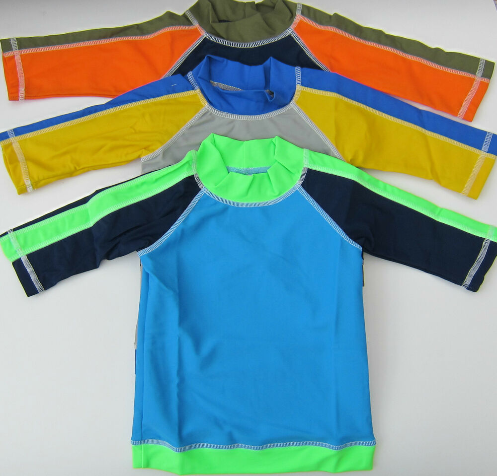 Boden boys surf swim rash vest rashie sun protection top 3 cols ages 2 10 bnwot ebay for Rash after swimming in pool pictures