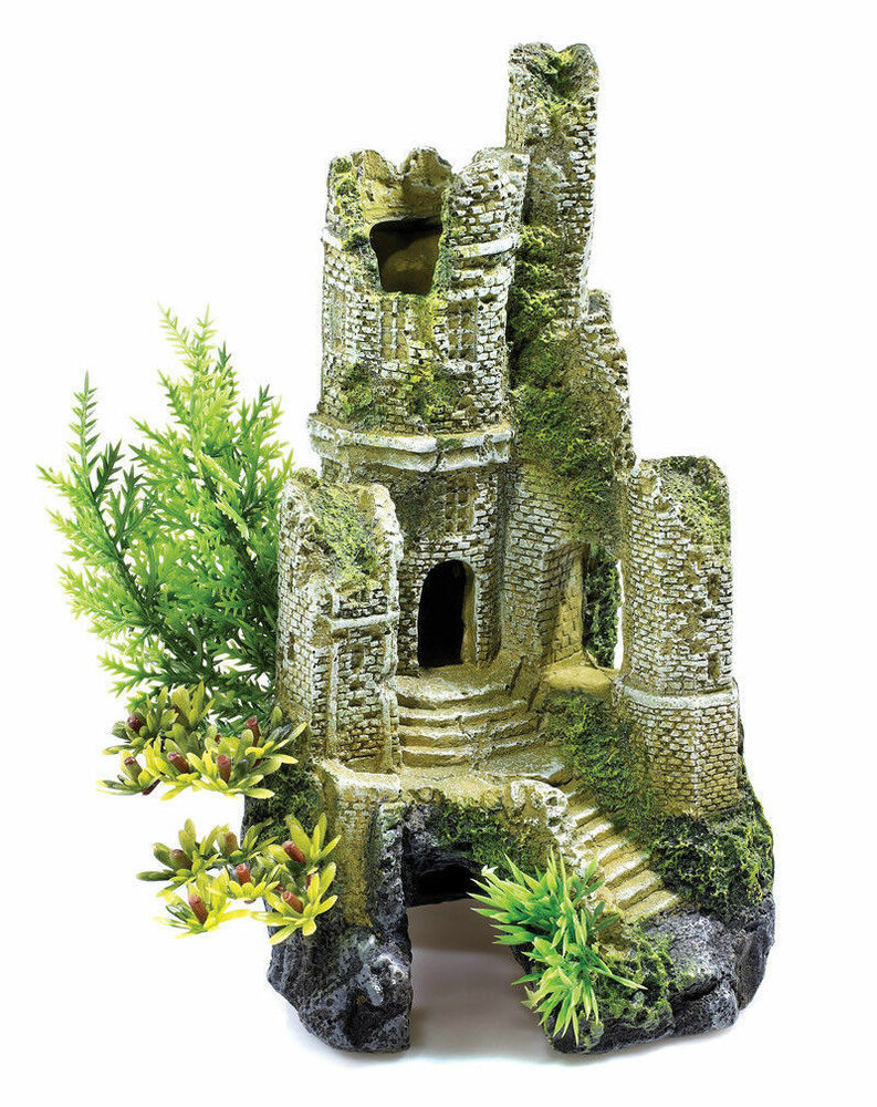 Classic castle ruins 30 ltr biorb aquarium ornament fish for Aquarium decoration ornaments