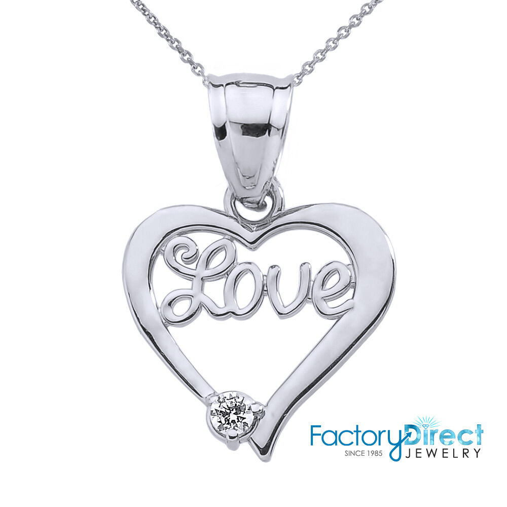 Love Gift Gold Heart Pendant Wallpaper : Valentines Day Gifts 10k White Gold
