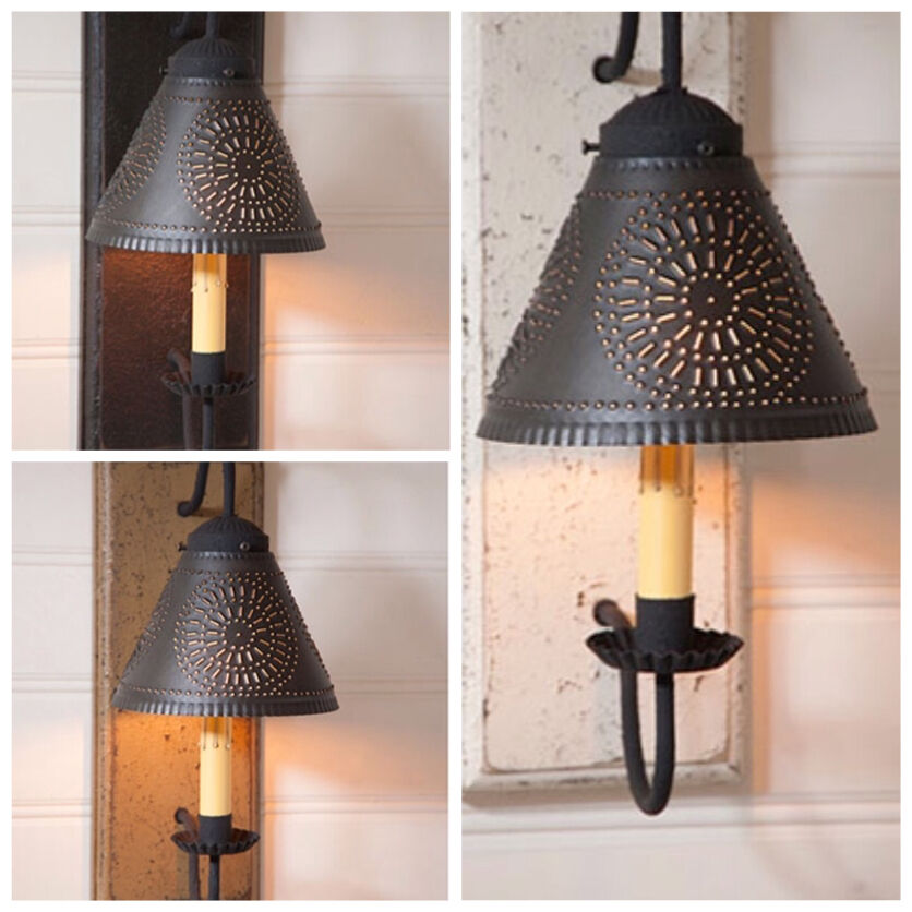 PRIMITIVE CRESTWOOD SCONCE IN 3 COLOR CHOICES/COUNTRY