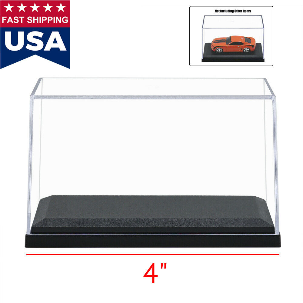 4 length clear uv acrylic plastic display box case dustproof protection toy new ebay. Black Bedroom Furniture Sets. Home Design Ideas