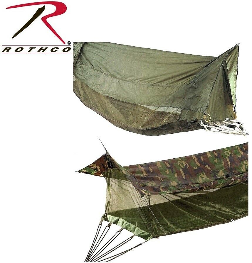 Military Style Covered Jungle Hammock Mosquito Netting