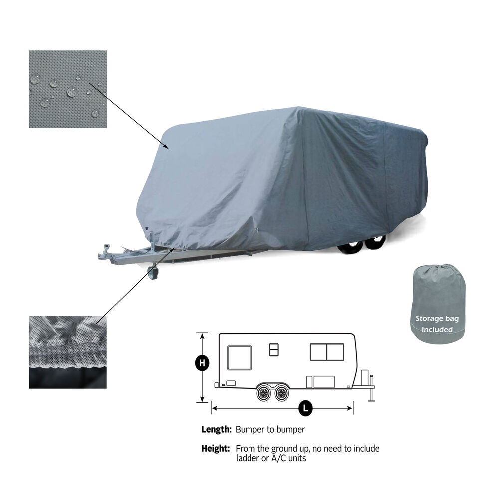 Popular  Dust Cover For Stored Travel Trailer Rv Campers Made Of Polypro 1