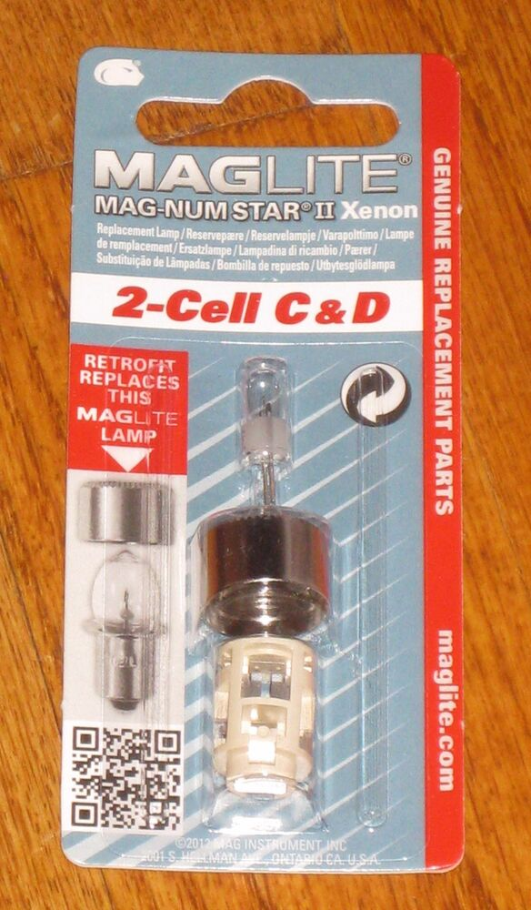 Maglite 2 Cell C Amp D Replacement Bulb Xenon Mag Num Star