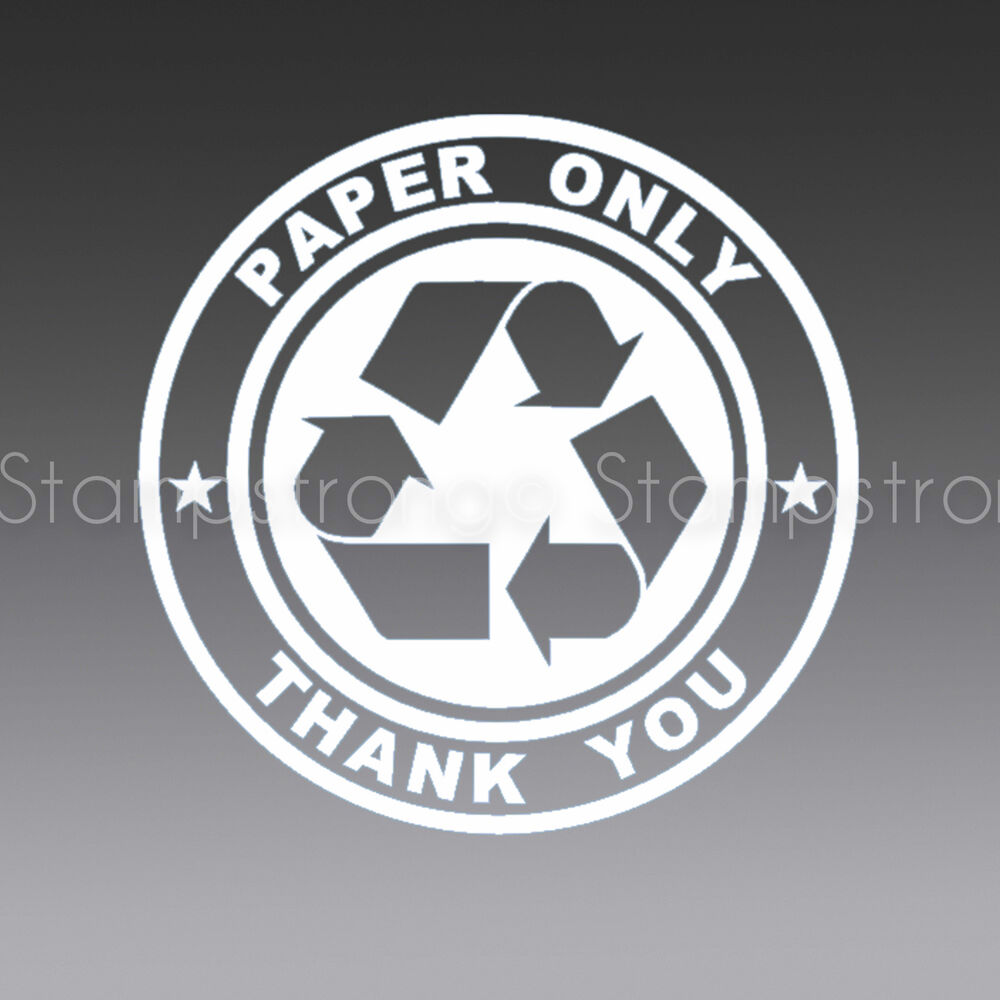 4 Inch Recycle V3 Paper Only Vinyl Decal Sticker Die Cut