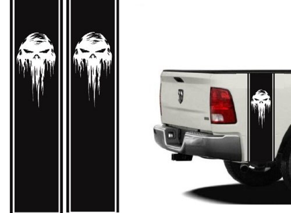 Truck Bed or Car Stripe for Dodge Hemi turbo Ram pick up decal skull decal wrap | eBay