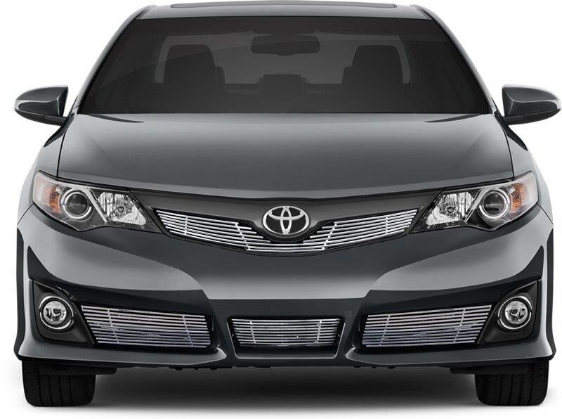 fits toyota camry se 2012 2014 chrome billet grille insert top bottom 4pcs ebay. Black Bedroom Furniture Sets. Home Design Ideas