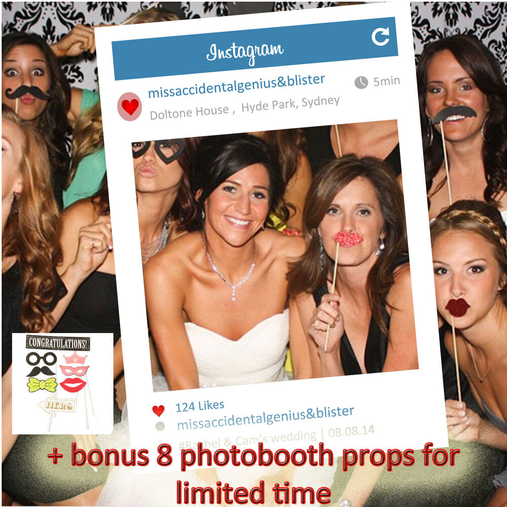 Personalised Instagram Social Media Photobooth Frame for Photo Booth ...
