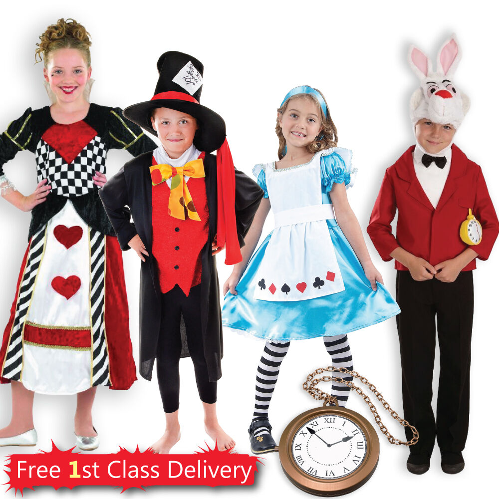 Kids Alice in Wonderland Theme Fancy Dress Costumes Girls ...