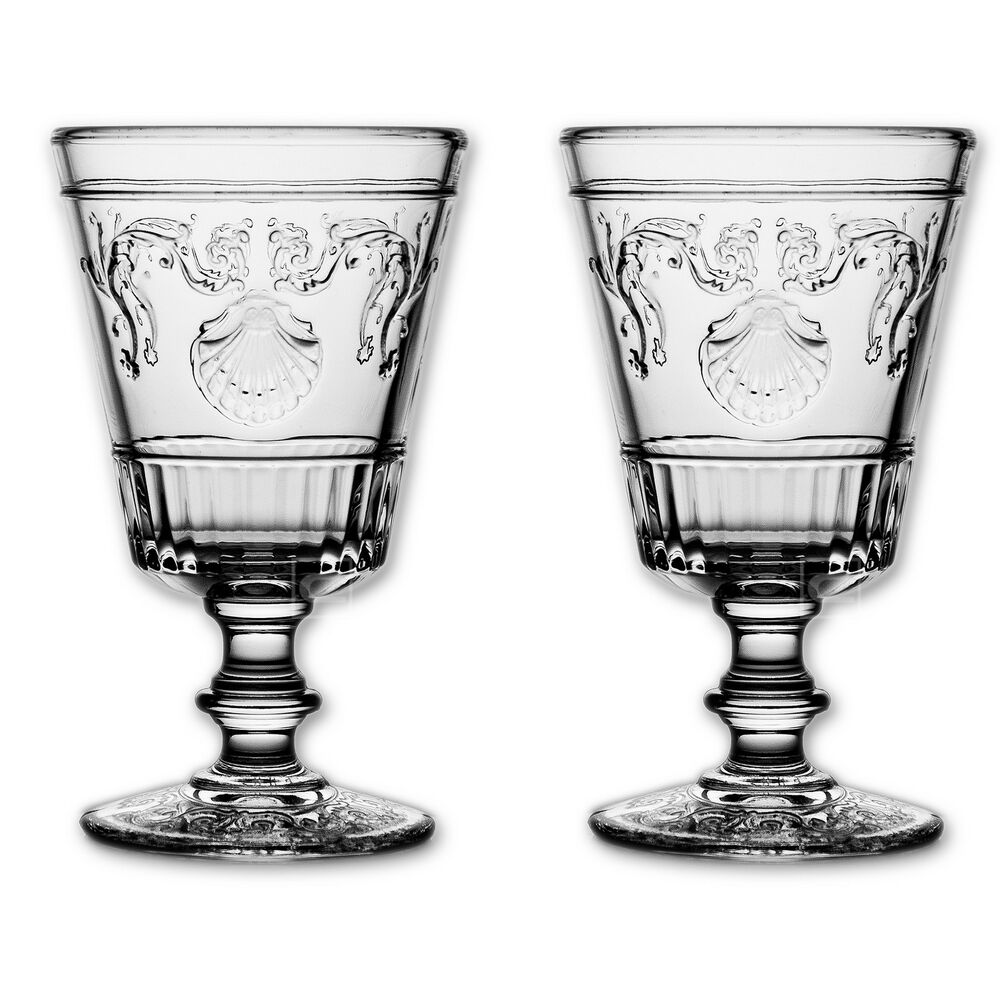 2x la rochere versailles weinglas glas gl ser weingl ser 400ml ebay. Black Bedroom Furniture Sets. Home Design Ideas