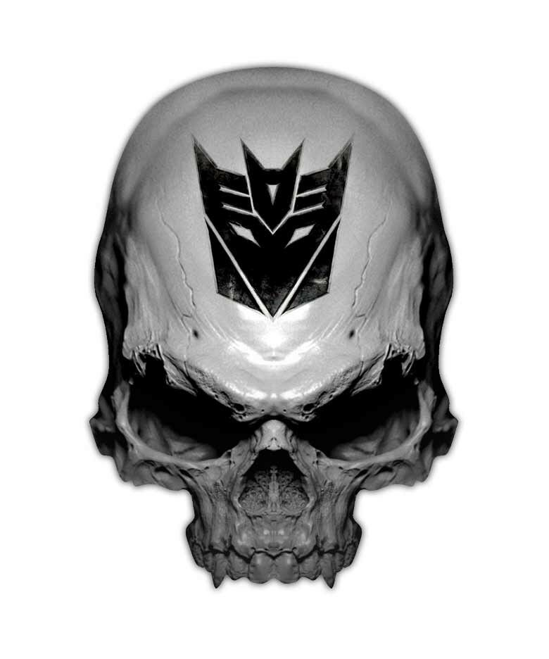 Ebay Bid Sniper >> Decepticon Skull Decal - Transformer Sticker Decals | eBay