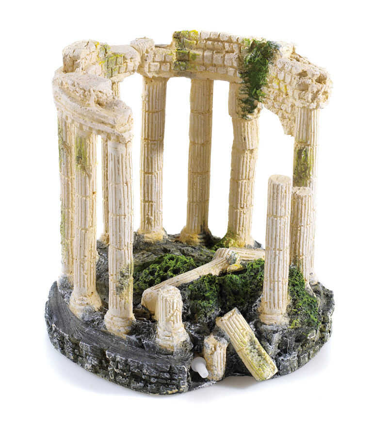 Roman circle fountain ancient ruins with air fish tank for Ancient greek decoration