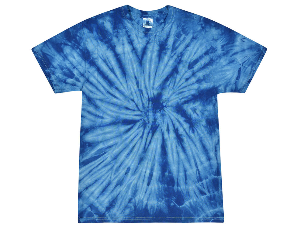 Royal tie dye t shirts adult s m l xl 2xl 3xl 4xl 5xl for Black and blue tie dye t shirts