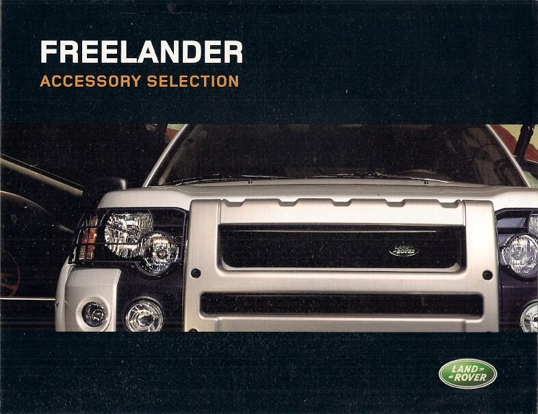 land rover freelander accessories 2003 05 uk market foldout sales brochure ebay. Black Bedroom Furniture Sets. Home Design Ideas