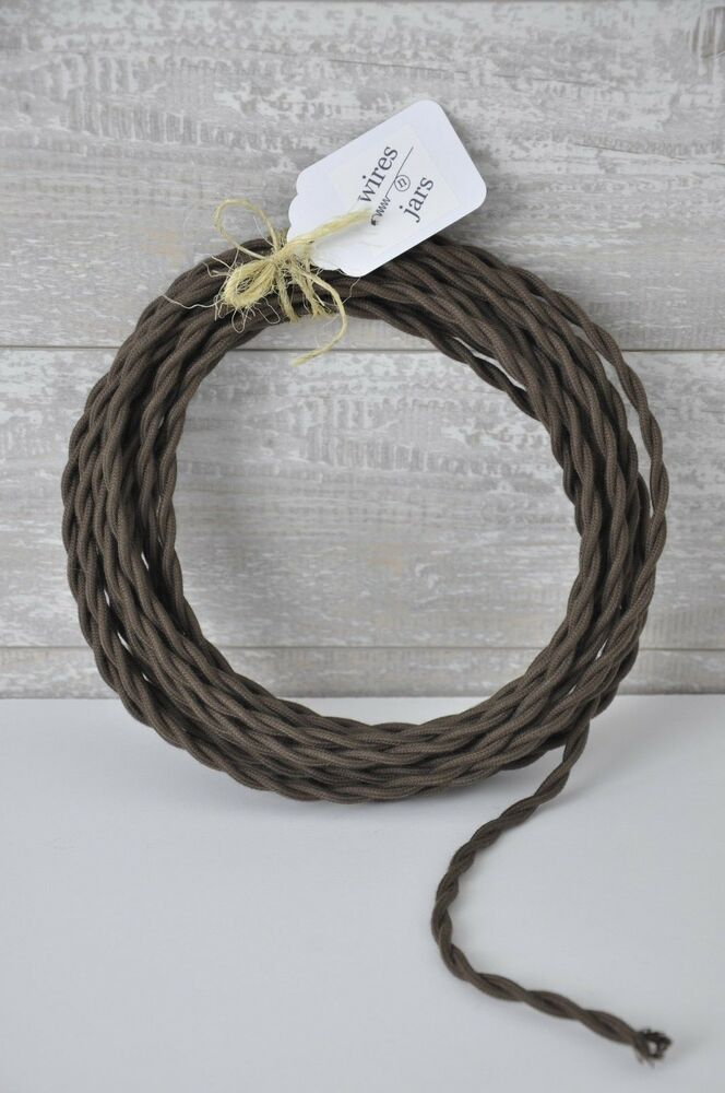 covered electrical cord wire length by foot brown lamp cord ebay