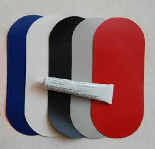 inflatable boat repair kit 3 x pvc patches glue. Black Bedroom Furniture Sets. Home Design Ideas