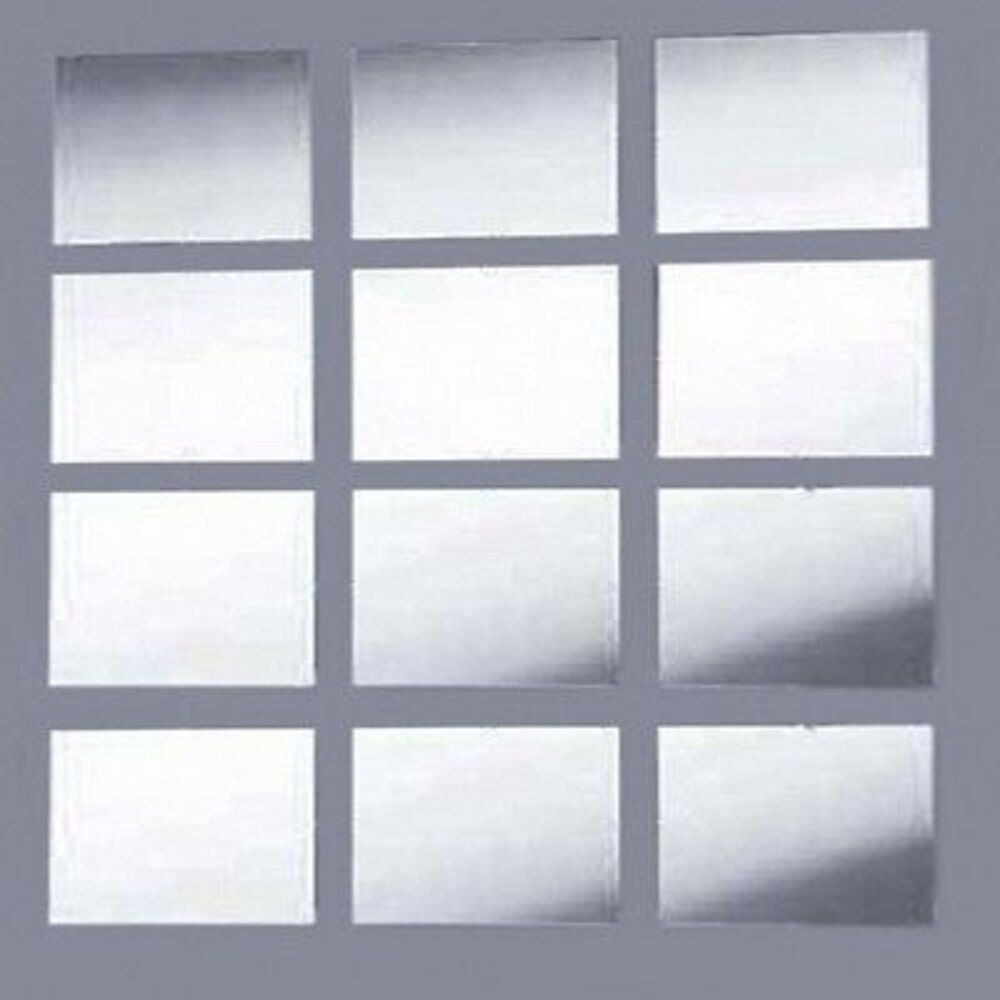 Mirrored Rectangular Mosaic Shatterproof Wall Tiles Ebay