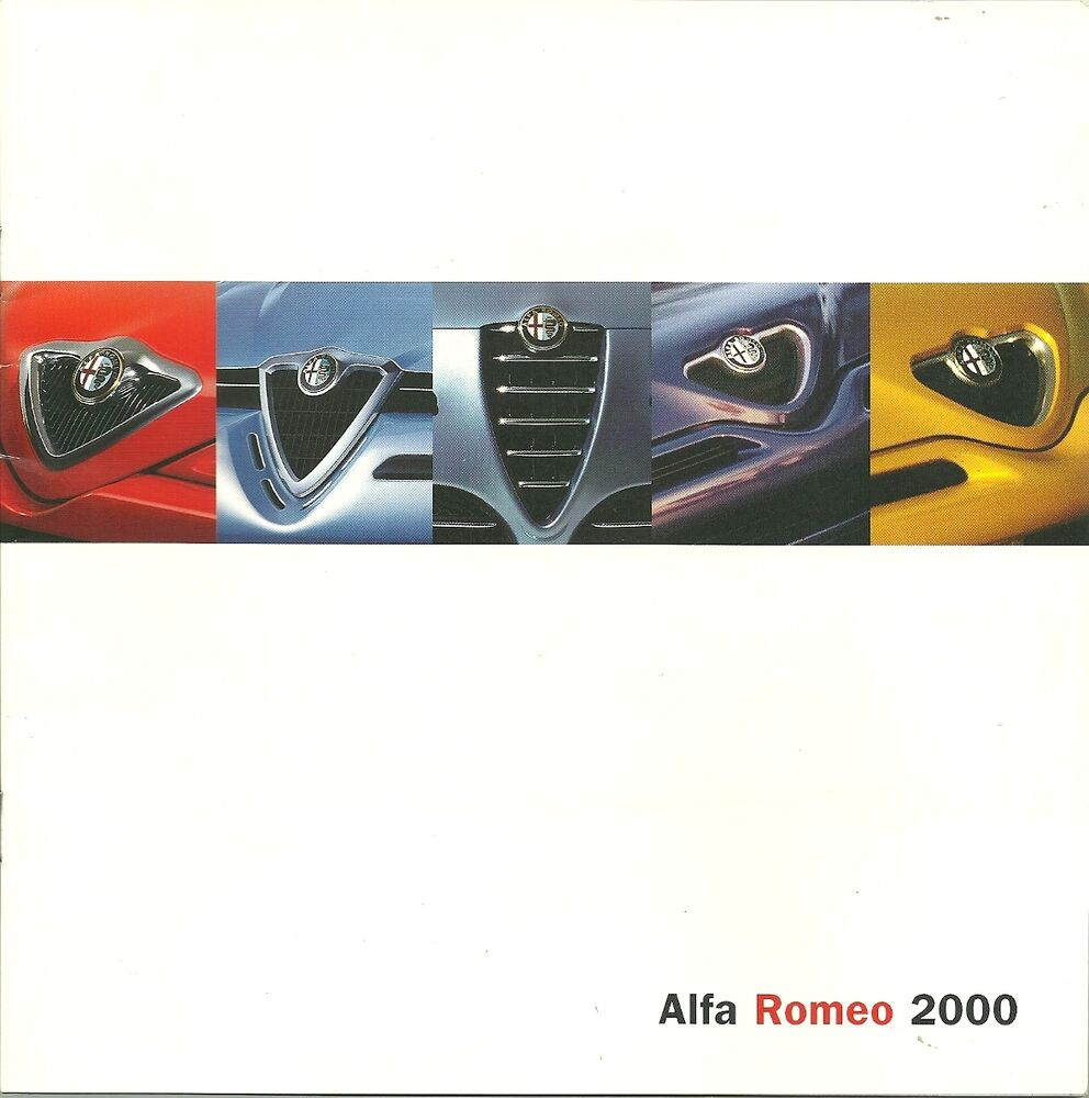 catalogue publicitaire gamme alfa romeo 2000 ebay. Black Bedroom Furniture Sets. Home Design Ideas