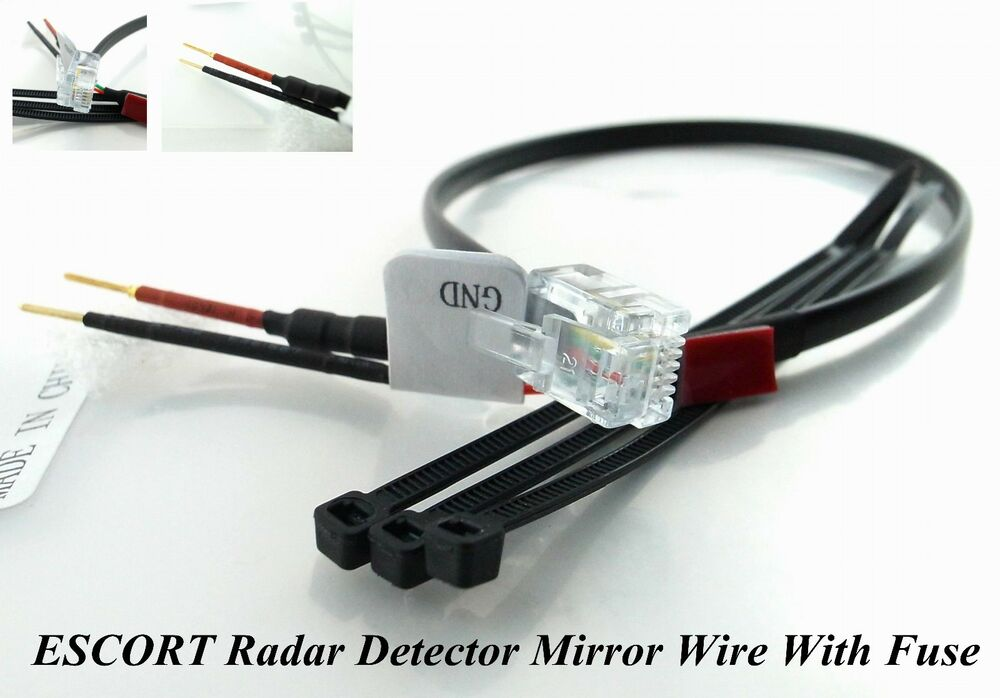 for escort radar detectors mirror wire with 2am fuse