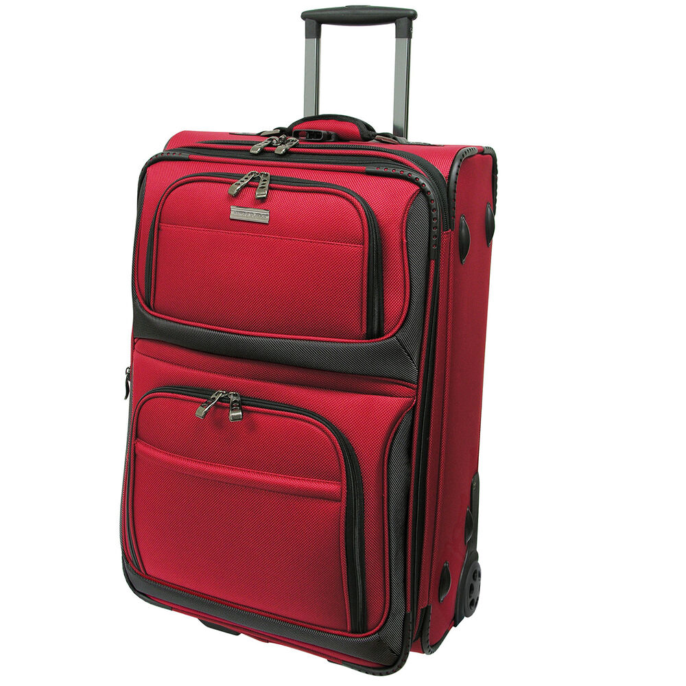 Traveler S Choice Conventional Red 22 Quot Rugged Carry On