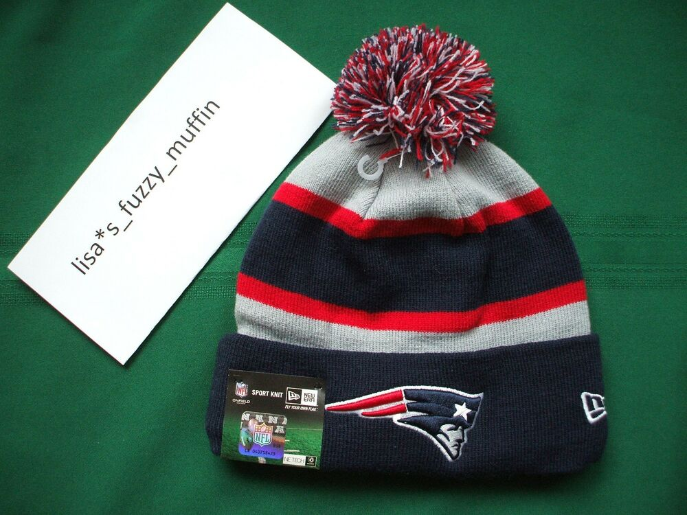 New england patriots pom pom hat