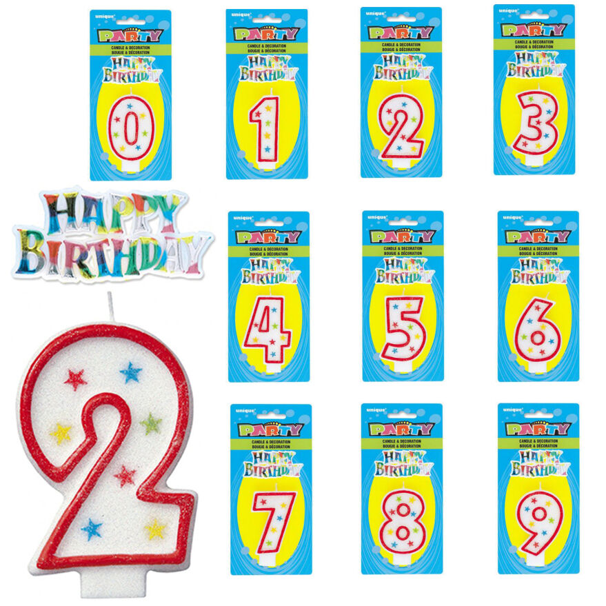 Birthday Cake Number Candles Party Decorations Happy