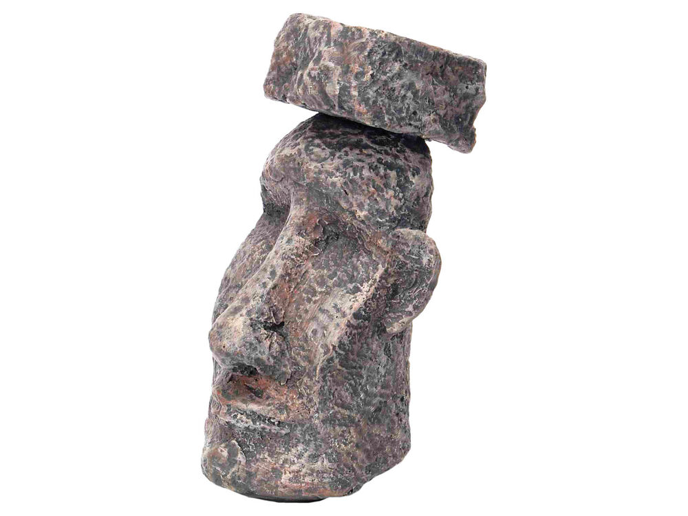 Rock face easter island aquarium fish tank ornament for Moai fish tank