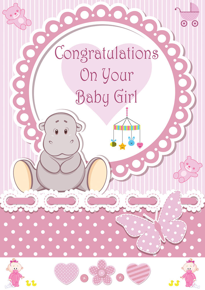 its a girl baby girl birth banner congratulations its a